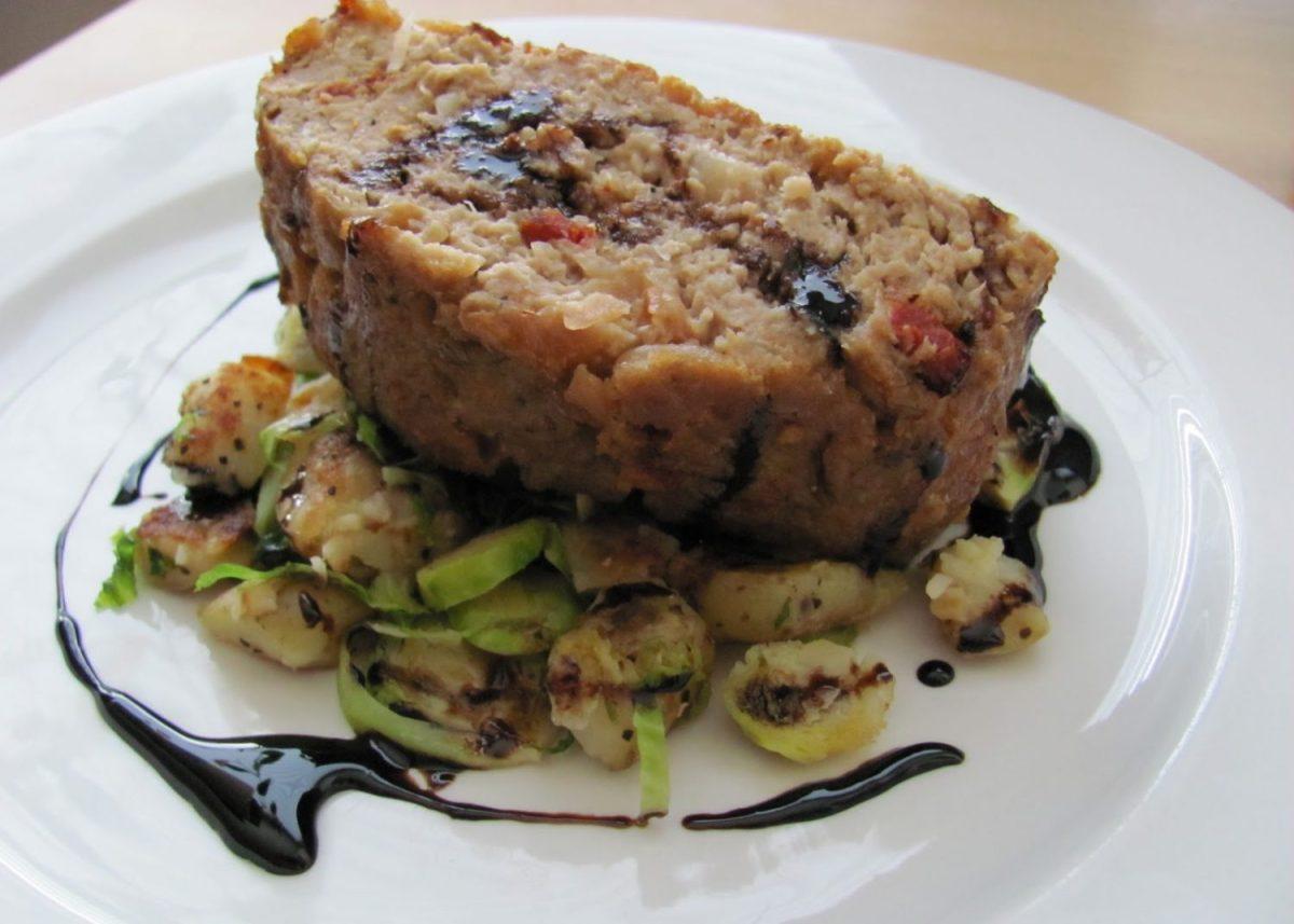 Caramelized Onion Turkey Meatloaf with BalsamicGlaze
