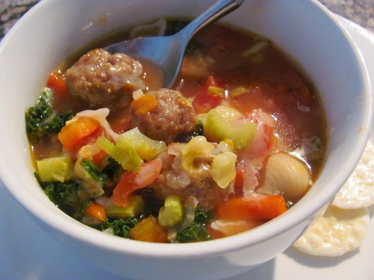 Italian Sausage Meatball MinestroneSoup