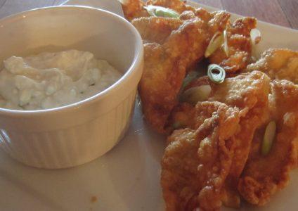 Buffalo Chicken Wontons with Blue Cheese DippingSauce